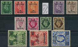 Eritrea B.A. 1950. Sassone #14/26 MNH/Luxe. KGVI. (Ts04) - Royalties, Royals