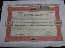 MILANO  --- EDOARDO  BIANCHI  -- FABBRICA AUTOMOBILI E VELOCIPEDI - Unclassified