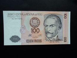.PÉROU * :  100 INTIS   26.6.1987    P 133      NEUF - Pérou