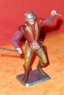 Figurine MOKAREX - Série N°11 -Ivanhoé - Gentilhomme Dague Et épée - Ronde-bosse - Plastique Peinte - Figurines