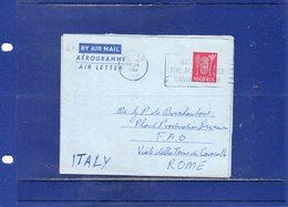 ##(DAN1811)-Postal History Nigeria 1962-6d Benin Mask Air Letter-Aerogramme From Ibadan To F.A.O. Rome - Italy - Nigeria (1961-...)