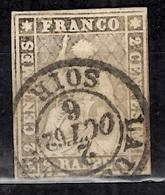 Suisse YT N° 25 Oblitéré. Belle Qualité Sans Défaut. A Saisir! - 1854-1862 Helvetia (Non-dentelés)