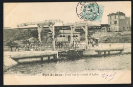PORT-de-BOUC - CPA -13- Pont Sur Le Canal D'Arles -Attelages- Voyagée 1905 -Recto Verso-  Paypal Sans Frais - France