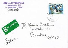 30527. Carta BUDARDALUR (Islandia)  Island 1996 To Spain - 1944-... Republic
