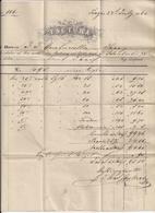 Rechnung - 22.7.1860 Von Prag Nach Linz - Mit Aufgeklebter Briefmarke 15 KR - Autriche