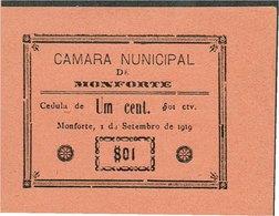 PORTUGAL-BANKNOTES-CÉDULA - EMERGENGY MONEY-- CAMARA MUNICIPAL DE MONFORTE ( ERRO--NUNICIPAL ) - Portugal