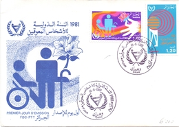 ALGERIE 1981 FDC REHABILITATION DISABLED (NOV180128) - Handicap