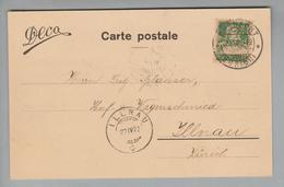 """Schweiz 1922-04-21 Küsnacht Perfin Auf Postkarte #D013 """"DECA"""" - Suisse"""