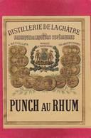 étiquette PUNCH Au RHUM De La DISTILLERIE De LA CHATRE  Indre ( F2 ( Fabrique De Liqueurs - Rhum
