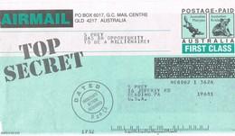 30530. Resguardo Postage PAID AUSTRALIA, Koala And Platypus - Enteros Postales