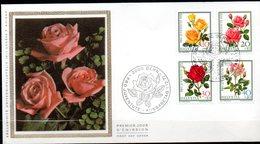 Enveloppe Cachet PJ 01/12/72  (BERN Suisse ) Série Pro Juvente  N°914 à 917 - Roses