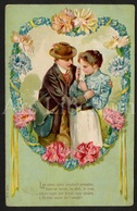 Postkaart / CPA / RELIEF Postcard / 2 Scans / Couple / Romantique - Couples
