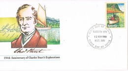 30532. Entero Postal CANBERRA (Australia) 1980. Charles Sturt's. Explorations - Enteros Postales
