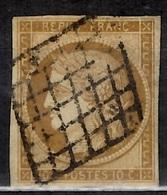 France YT N° 1 Oblitéré. Belle Qualité, Filets Intacts. A Saisir! - 1849-1850 Cérès