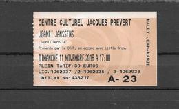 Jeanfi Janssens  Sur Scène Jeanfi Décolle à Villeparisis Seine & Marne A Voir Pour Bien Ri-collé    *503* - Tickets D'entrée
