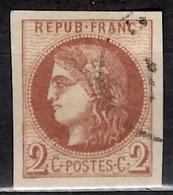 France Bordeaux YT N° 40b Oblitéré. Premier Choix, Superbes Marges. A Saisir! - 1870 Emission De Bordeaux