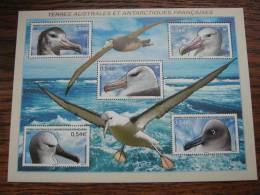 2007   TAAF BF 17  * *   NO YV 464/468  FAUNE OISEAUX  ( Albatros ) - Blocks & Kleinbögen