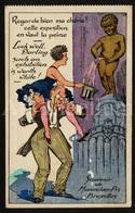 Postkaart / CPA / Postcard / 2 Scans / Bruxelles / Brussels / Manneken Pis / 1932 - Humour