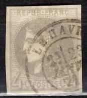 France Bordeaux YT N° 41b Oblitéré. Premier Choix, Belles Marges. A Saisir! - 1870 Bordeaux Printing