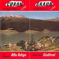 "08844 ""VAL VENOSTA-ALTO ADIGE - VINSCHGAU-SUDTIROL - CURON AL LAGO RESIA M. 1550"" 1958 DEPLIANT TURISTICO - Toeristische Brochures"