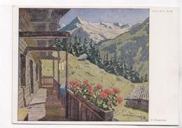 Auf Der Alm, Erich Stegmann, Unused Postcard [22246] - Paintings