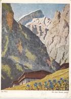 Am Berg, Mit Dem Munde Gemalt, Used Postcard [22247] - Paintings