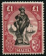 ** N°95 1L Rouge Et Noir - TB - Malta
