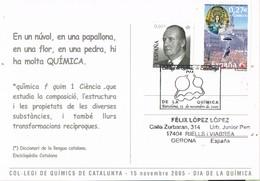 30536. Postal BARCELONA 2005. Colegio Quimicos. Dia De La QUIMICA. - 1931-Hoy: 2ª República - ... Juan Carlos I