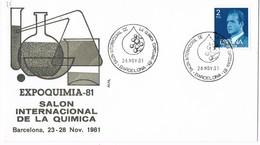 30537. Carta BARCELONA 1981. EXPOQUIMIA 81. Salon Internacional Quimica - 1931-Hoy: 2ª República - ... Juan Carlos I