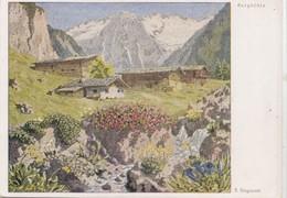 Erich Stegmann, Bergblute, Unused Postcard [22250] - Paintings