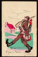 Postkaart / CPA / Postcard / 2 Scans / 1er Jour De Mareke / Artist Signed / Soldat / Soldier / Soldaat - Humour