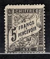 France Timbre Taxe YT N° 24 Oblitéré. Rare! A Saisir! - 1859-1955 Oblitérés