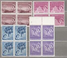SEYCHELLES 1954 4 X Blocks MNH(**) #23476 - Seychelles (...-1976)