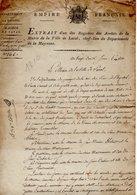 NAPOLEON MAYENNE 53 LAVAL DOCUMENT ARCHIVE EMPIRE - Historical Documents