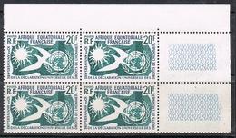 A.E.F. N°245 N** En Bloc De 4 Coin De Feuille - A.E.F. (1936-1958)