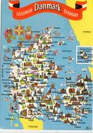 Denmark, Mini Map, 1985 Used Postcard [22255] - Denmark
