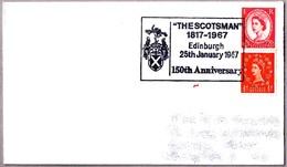 150 Anniv. THE SCOTSMAN. Periodico - Newspaper - Journal. Edinburgh 1967 - Sellos