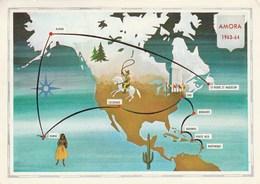 SAINT PIERRE ET MIQUELON CARTE ITINÉRAIRE 1963 1964 CARTE PUBLICITAIRE AMORA DIJON MOUTARDE - Saint-Pierre-et-Miquelon