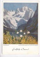 Schneeglockchen, Mit Dem Munde Gemalt Von Arnuls Erich Stegmann, 1952 Used Postcard [22260] - Paintings