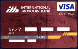 RUSSIA - RUSSIE - RUSSLAND INTERNATIONAL MOSCOW BANK VISA ELECTRON CARD LEONARDO DA VINCI DRAWING GOOD CONDITION - Tarjetas De Crédito (caducidad Min 10 Años)