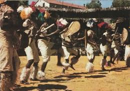 AFRIQUE DU SUD DANSES FOLKLORIQUES ZOULOU CARTE PUBLICITAIRE AMORA DIJON MOUTARDE - South Africa