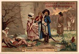 CHROMO CHICOREE NOUVELLE CASIEZ-BOURGEOIS  CAMBRAI  MASSACRES DE MARCHECOUL 10-21 MARS 1793 - Chromos
