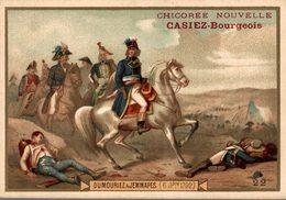 CHROMO CHICOREE NOUVELLE CASIEZ-BOURGEOIS  CAMBRAI DUMOURIEZ A JEMMAPES 6 NOVEMBRE 1792 - Cromos