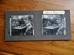 11/41 Photo Stéréoscopique Guerre 14/18 -ST JEAN Pres Martincourt Grand Hotel Ou Loge L' Etat Major Du 78 Eme - Stereo-Photographie