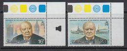 Falkland Islands 1974 Sir Winston Churchill 2v (corner, Traffic Lights) ** Mnh (41329B) - Falklandeilanden