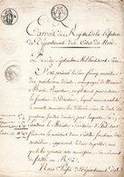 COTES DU NORD  22 DOCUMENT ARCHIVE  ST SAINT BRIEUC PONT 1816 VIGNETTE REVOLUTION - Historical Documents