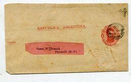 Argentinien / 1890 / Streifband 1 Centavo Nach Paysandu (27433) - Ganzsachen