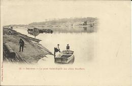 BAYONNE , Le Pont Saint Esprit Des Allées Bouffleurs , CPA ANIMEE - Bayonne