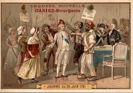 CHROMO CHICOREE NOUVELLE CASIEZ-BOURGEOIS  CAMBRAI  JOURNEE DU 20 JUIN 1791 - Trade Cards