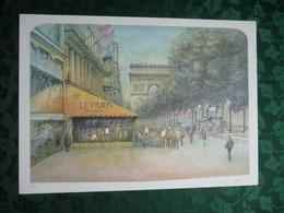 ARC DE TRIOMPHE - Lithographie Signée De L'Artiste Rolf RAFFLEWSKI (75x54 Cm) - Lithographies